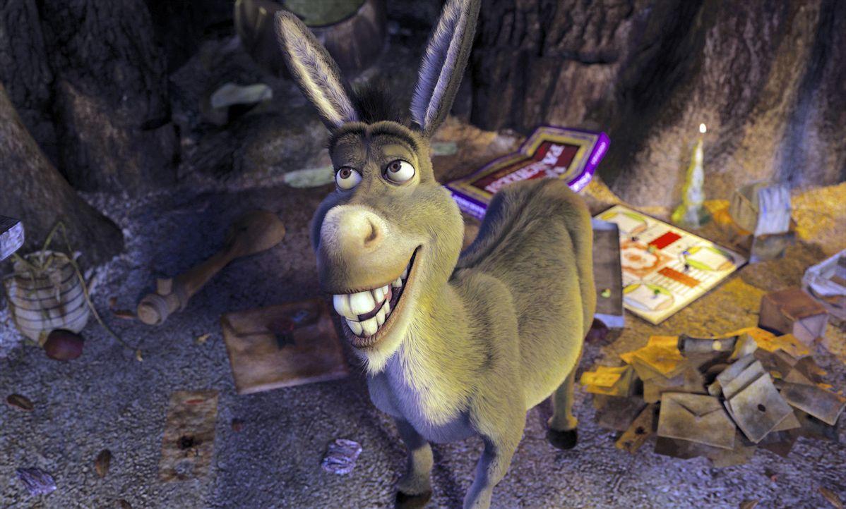 Kommt einem dunklen Geheimnis auf die Spur: der ewig plappernde Esel Donkey ... - Bildquelle: DreamWorks SKG