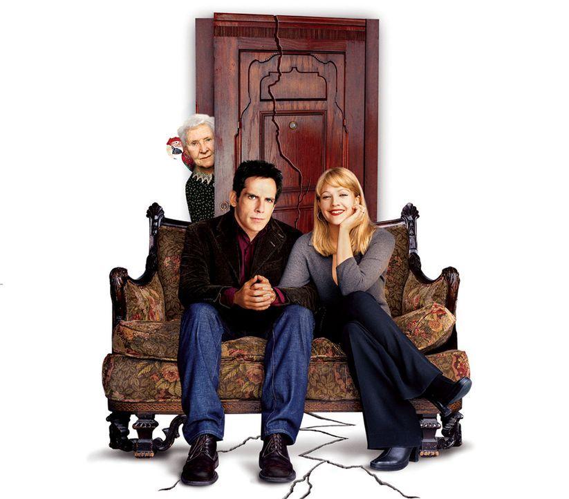 Der Appartement-Schreck mit Ben Stiller, M., Drew Barrymore, r. und Eileen Essel, l. - Bildquelle: Miramax Films.  All Rights Reserved.