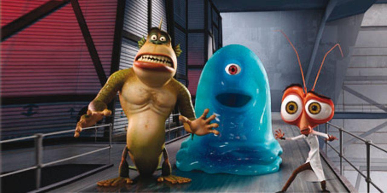 B.O.B. und seine monströse Truppe brechen aus der Area 52, einem streng geheimen Regierungsgefängnis, aus. Angeführt vom verrückten Wissenschaft... - Bildquelle: Dreamworks Pictures