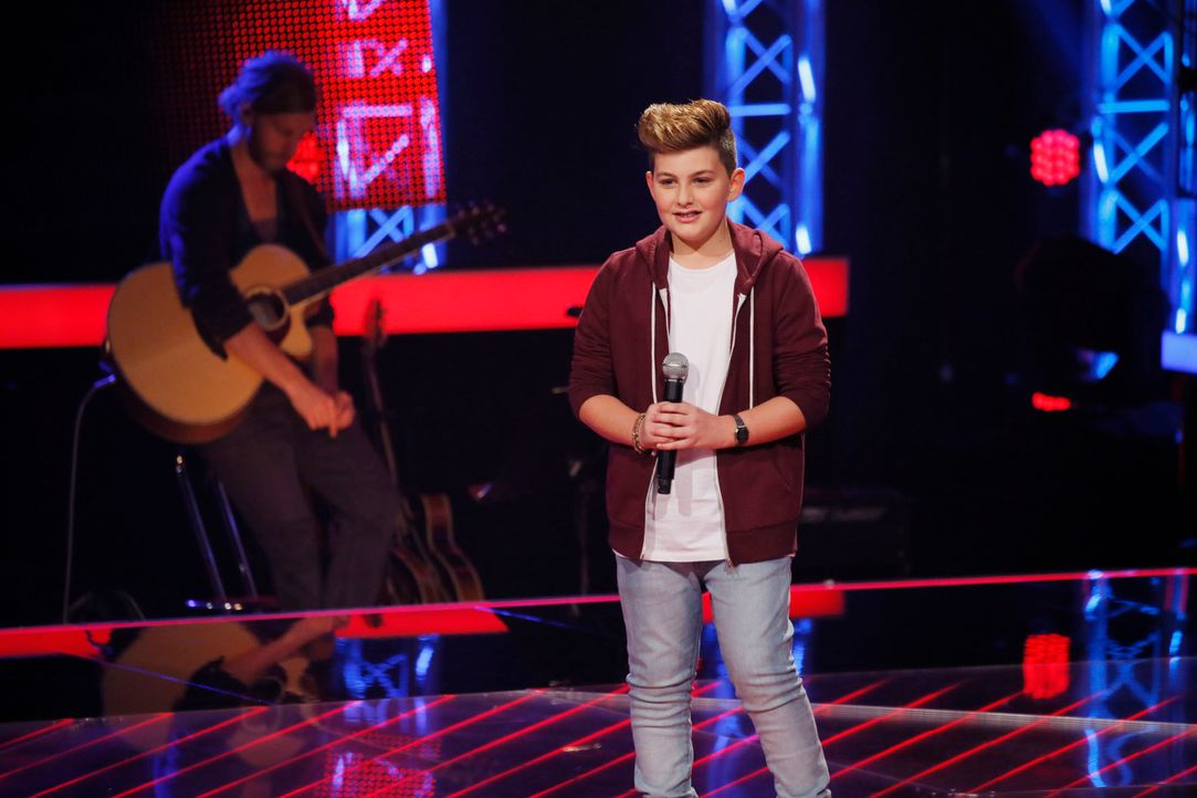 The-Voice-Kids-s04e02-Merdan-2-SAT1-Richard-Huebner - Bildquelle: © SAT.1/ Richard Hübner
