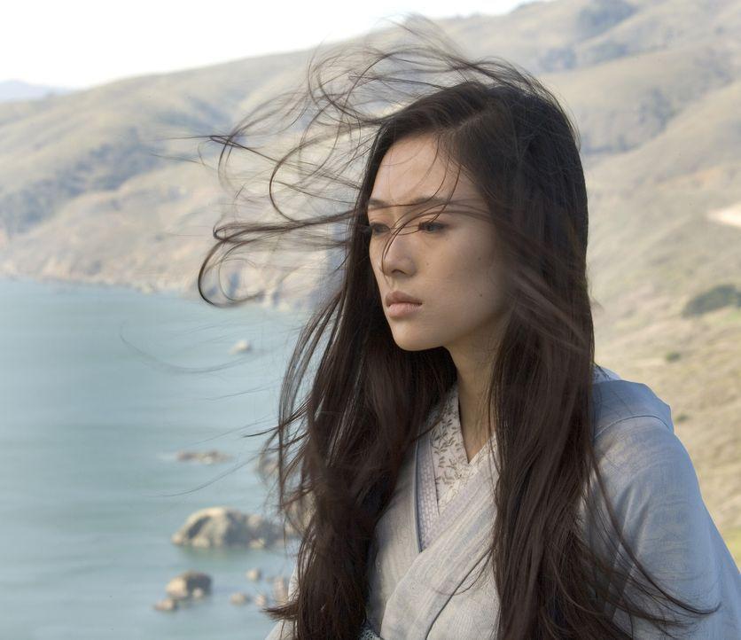 Als der Krieg ausbricht, wird aus der berühmten Geisha Sayuri (Ziyi Zhang) wieder das Mädchen Chiyo. Unerkannt arbeitet sie in den Bergen als Stofff... - Bildquelle: 2005 Sony Pictures Television International.