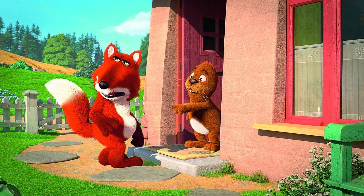 Der gemeine Fuchs (l.) hat es auf die kleine Freundin vom Keinohrhasen (r.) abgesehen. Ob der mutige Hase sie beschützen kann? - Bildquelle: Warner Brothers