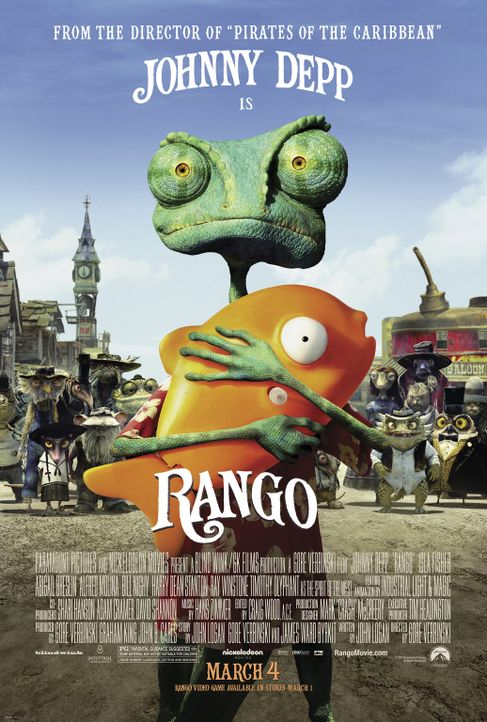 RANGO - Plakatmotiv - Bildquelle: Paramount Pictures. All rights reserved.
