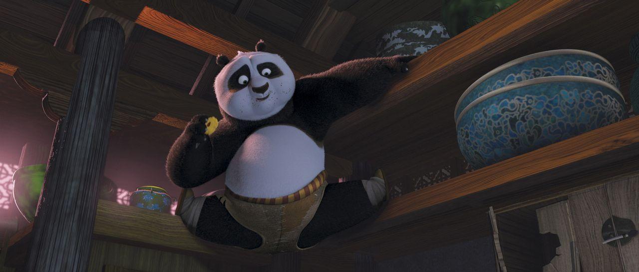 Da er unerwartet dazu berufen wird, die alte Kunst des Kung Fu-Kämpfens zu erlernen, wird das Leben und der Stoffwechsel des dicken Panda auf den K... - Bildquelle: Paramount Pictures