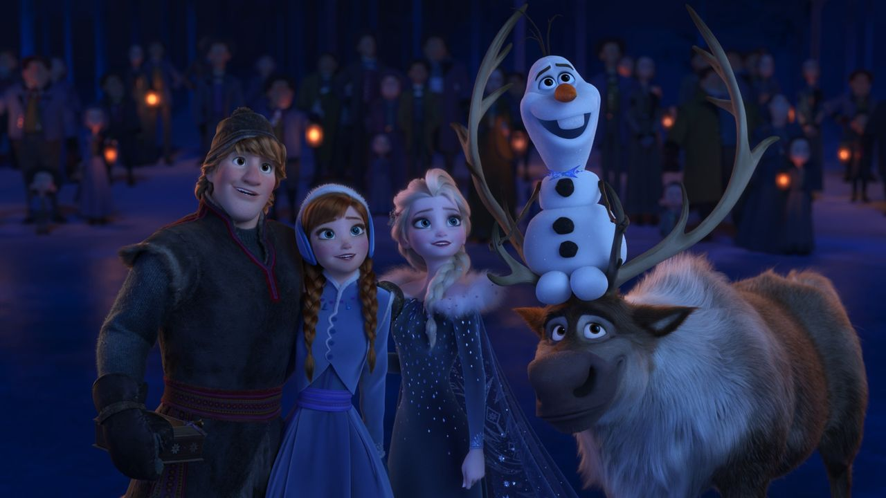 (v.l.n.r.) Hans; Anna; Elsa; Olaf; Sven - Bildquelle: Disney Enterprises, Inc.