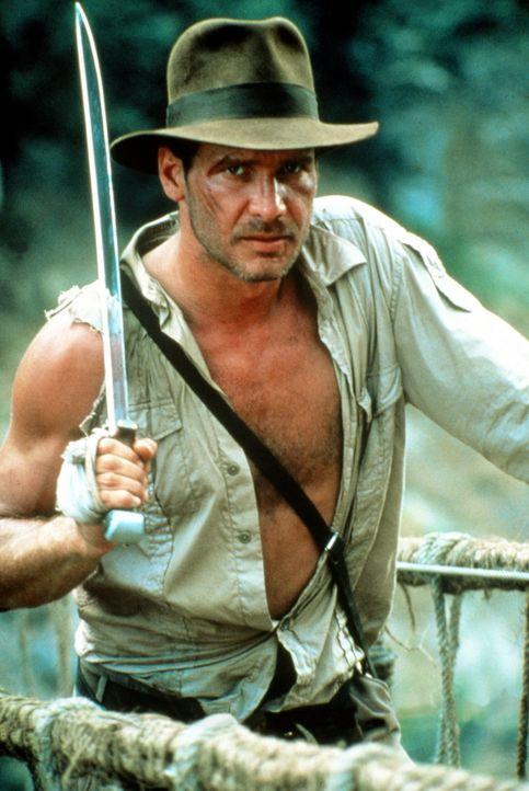 Mit Muskeln, Köpfchen, Charme und Witz tritt Indiana (Harrison Ford) einem gefährlichen Shiva-Kult, einem kaltblütigen, zwölfjährigen Maharadsc... - Bildquelle: Paramount Pictures