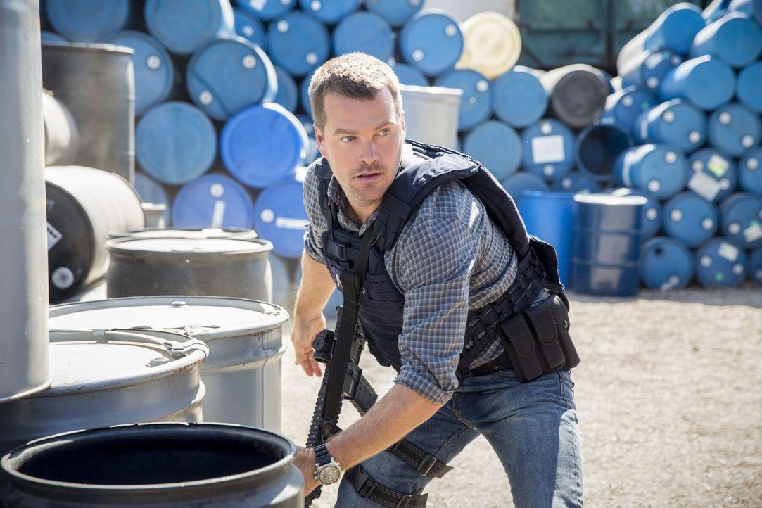 Auf Callen (Chris O'Donnell) und seine Kollegen wartet ein neuer Fall ... - Bildquelle: Erik Voake 2016 CBS Broadcasting, Inc. All Rights Reserved.