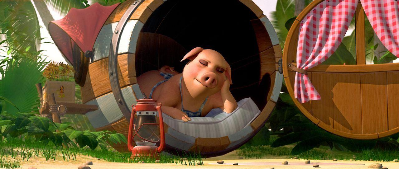 Hausschwein Wutz ahnt nicht, dass sich Urmel in großer Gefahr befindet ... - Bildquelle: Constantin Film