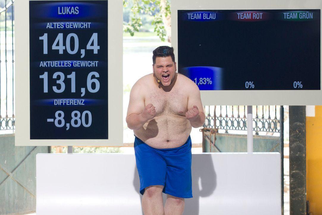 Eine Woche im Camp und schon fast neun Kilos abgenommen: Lukas ist glücklich ... - Bildquelle: Enrique Cano SAT.1