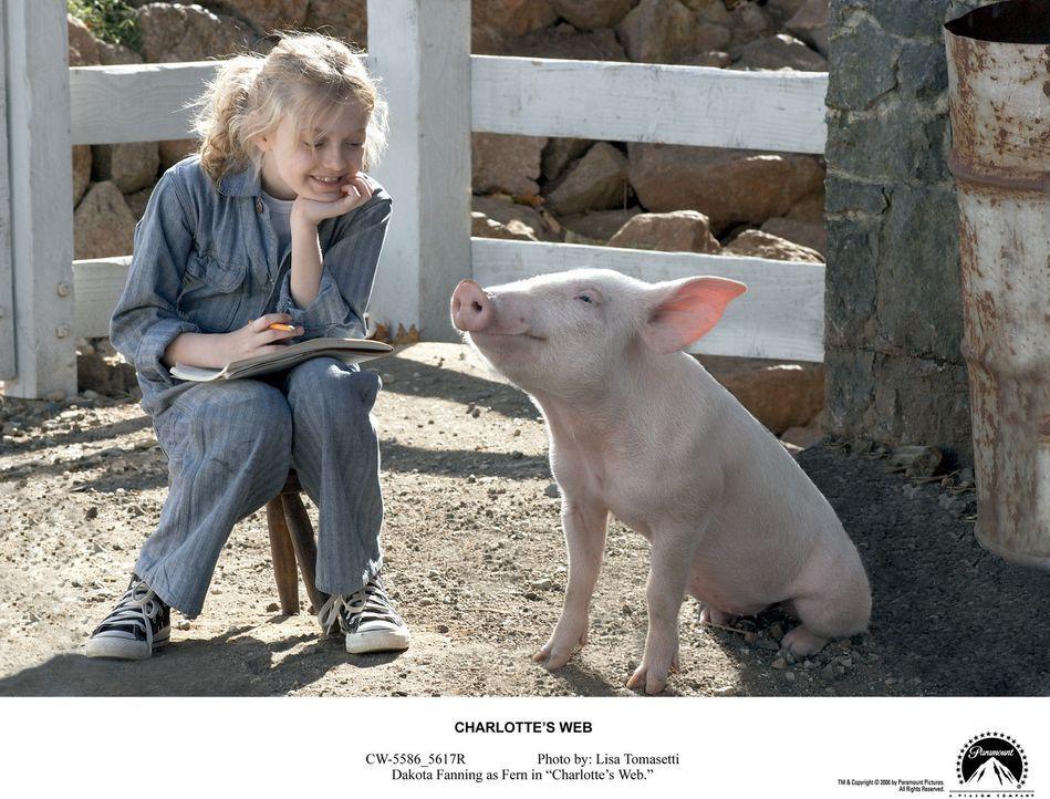 Aus Ferns (Dakota Fanning) einst so schwachem Ferkel Wilbur ist mittlerweile ein richtig prächtiges kleines Schwein geworden. Nun droht ihm jedoch... - Bildquelle: CBS International Television (ehem: Paramount Pictures International)
