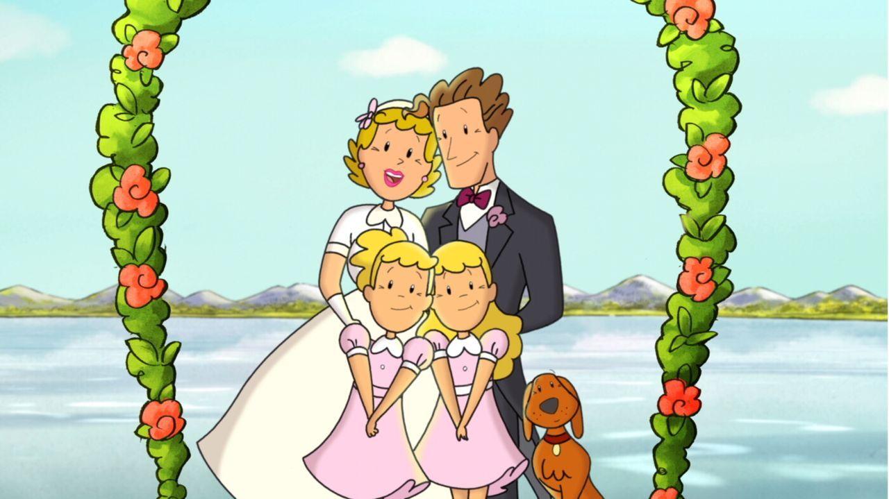 Luise und Lotte haben es geschafft: Die ganze Familie ist wieder vereint ... - Bildquelle: Warner Brothers International Television Distribution Inc.