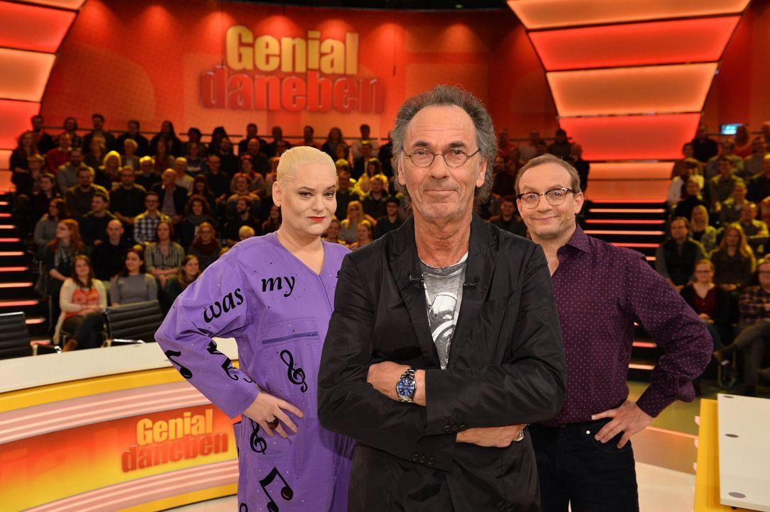 (v.l.n.r.) Hella von Sinnen; Hugo Egon Balder; Wigald Boning - Bildquelle: Willi Weber SAT.1/ Willi Weber