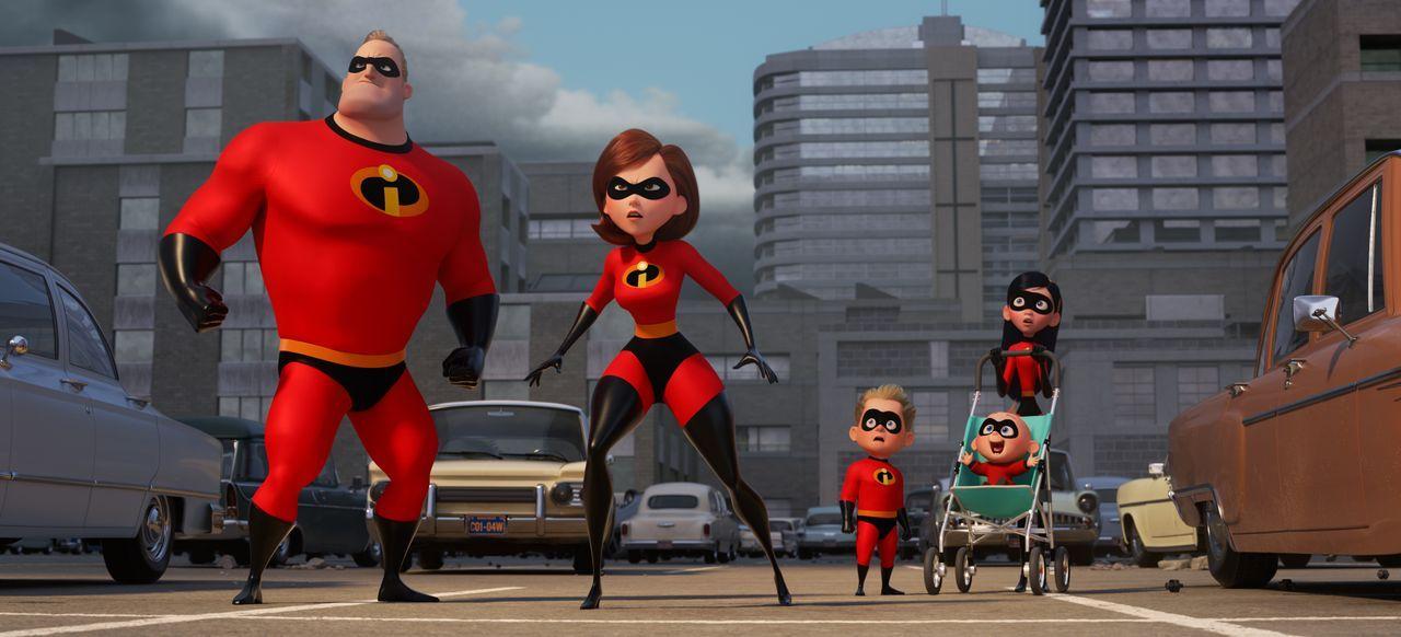 (v.l.n.r.) Bob Parr/Mr. Incredible; Helen Parr/Elastigirl; Dashiell Parr; Jack-Jack Parr; Violet Parr - Bildquelle: 2018 Disney/Pixar. All Rights Reserved.