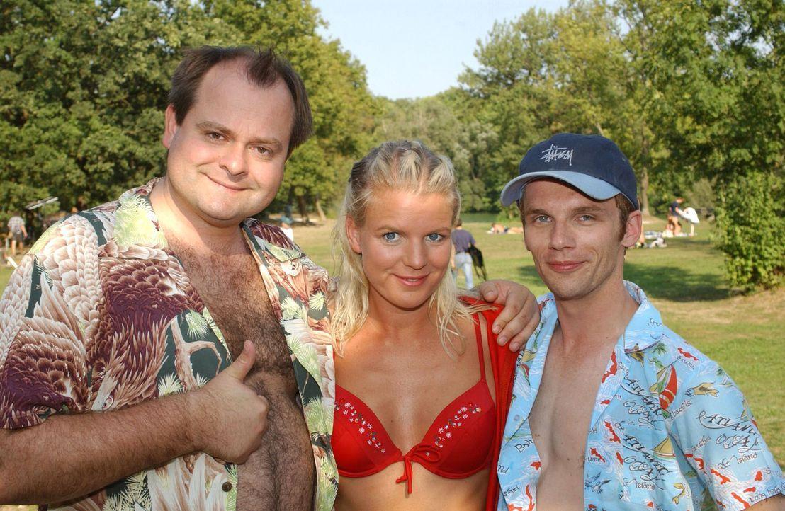 """v.l.n.r.: Markus Majowski, Mirja Boes und Ralf Schmitz sind die """"Dreisten Drei"""" - Bildquelle: Sat.1"""