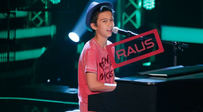 The-Voice-Kids-Stf04-RAUS-Lukas-SAT1-Richard-Huebner - Bildquelle: SAT.1/Richard Huebner