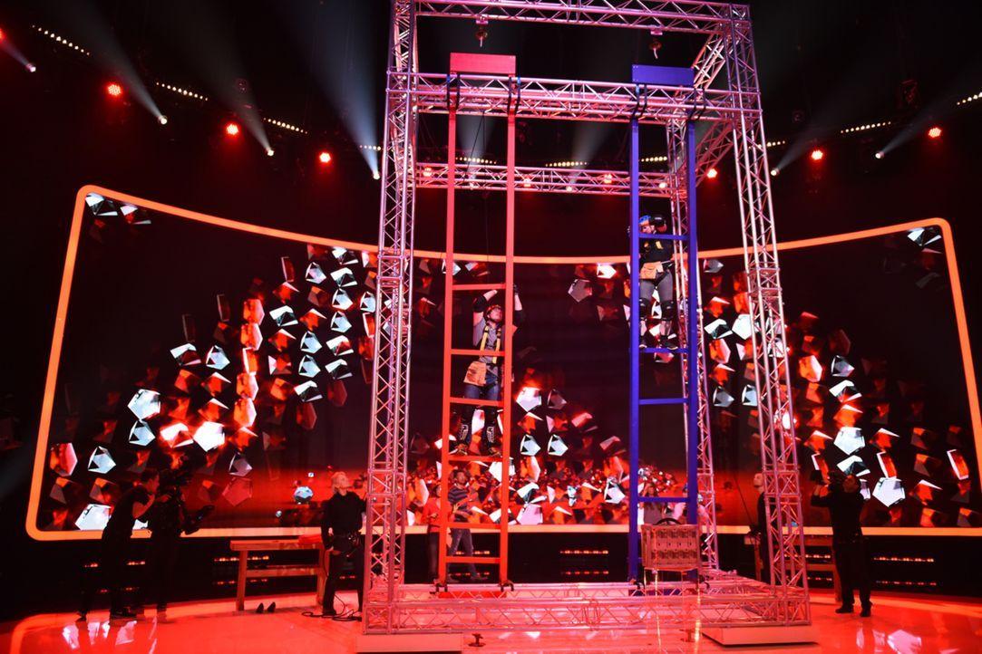 """In """"Ran an den Mann"""" werden fünf Männer von ihren Frauen ins Duell geschickt. In einer gigantischen Arena müssen sich die Kerle gegeneinander behaup... - Bildquelle: Willi Weber SAT.1"""