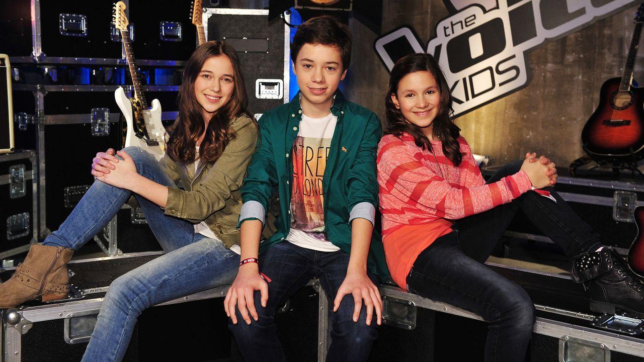 The-Voice-Kids-Stf02-Epi05-Carlo-Hanna-Saphira-1-SAT1-Andre-Kowalski - Bildquelle: SAT.1/Andre Kowalski