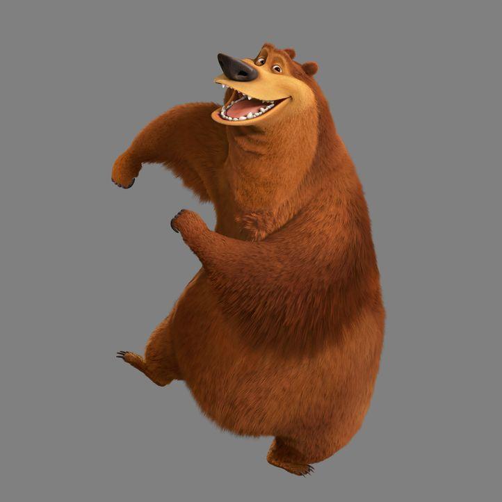 Er kann auch alleine Spaß haben: Grizzlie Boog macht sich zu einem einsamen Jungs-Trip auf und findet seine große Liebe ausgerechnet in einem Zirk... - Bildquelle: 2010 Sony Pictures Animation Inc. All Rights Reserved.