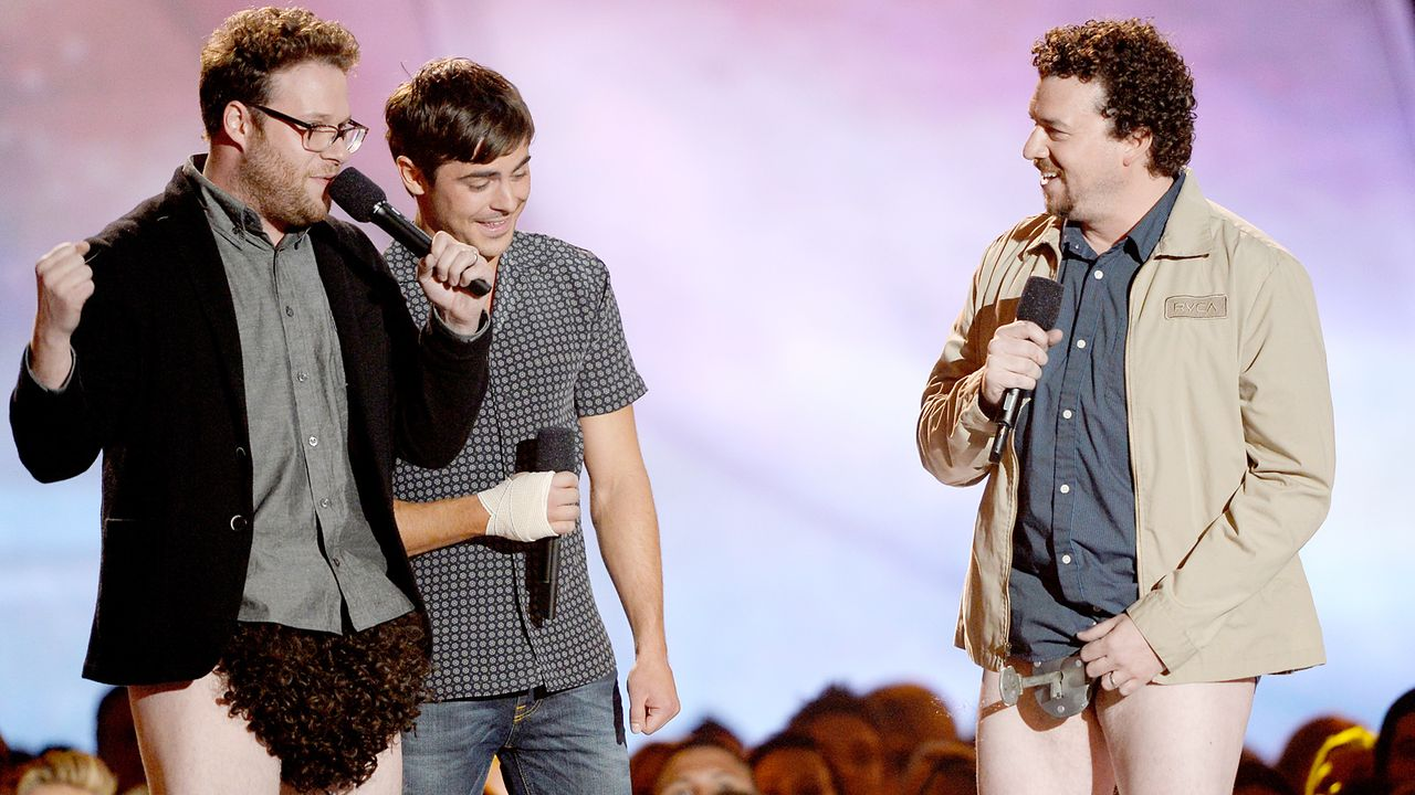 mtv-movie-awards-130414-Danny-McBride-Zac-Efron-Seth-Rogen-2-getty-AFP - Bildquelle: getty-AFP