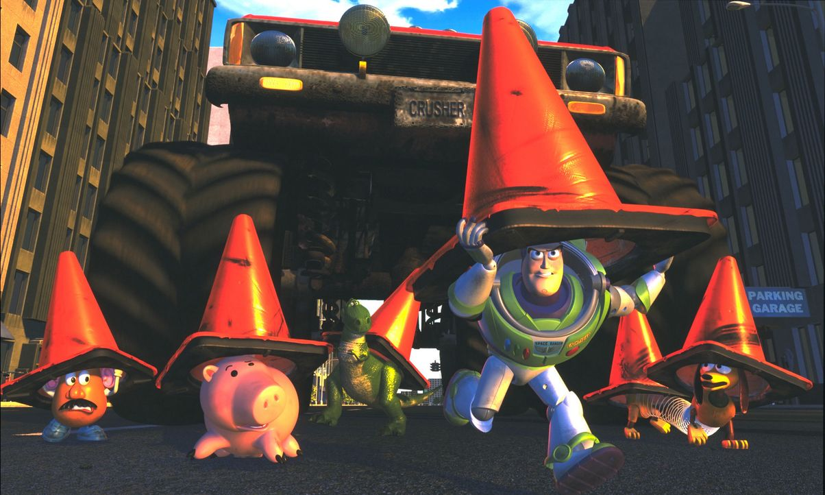 Gemeinsam mit den anderen Spielzeugfiguren macht sich Space Ranger Buzz Lightyear (2.v.r.) daran, seinen besten Freund aus den Fängen des Entführers... - Bildquelle: Buena Vista International Television