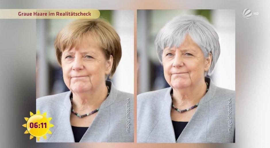 graue haare damen