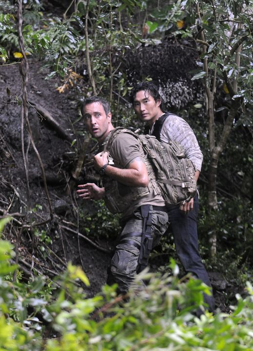 Eine wichtige Zeugin eines bedeutsamen Mordprozess ist verschwunden. Steve (Alex O'Loughlin, l.) und Chin (Daniel Dae Kim, r.) müssen in den Dschun... - Bildquelle: TM &   2010 CBS Studios Inc. All Rights Reserved.