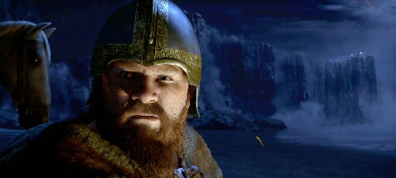 Wiglaf (Brendan Gleeson) ist Beowulfs treuester Kampfgefährte. Als es zum finalen Kampf kommt, steht er mutig seinem Freund bei ... - Bildquelle: 2007 Warner Brothers International Television Distribution Inc.