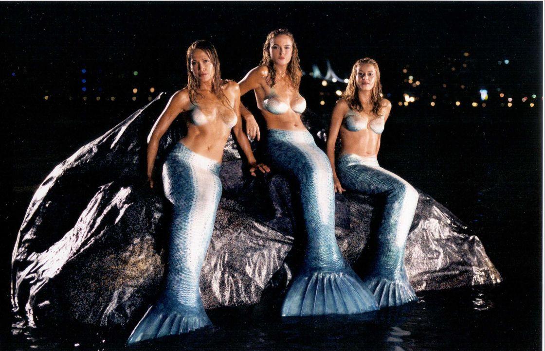 Die drei Schwestern (v.l.n.r.) Diana (Erika Heynatz), Venus (Nikita Ager) und June (Sarah Laine) sind waschechte Nixen, die den Mörder ihres Vaters... - Bildquelle: Licensed by CBS International Television