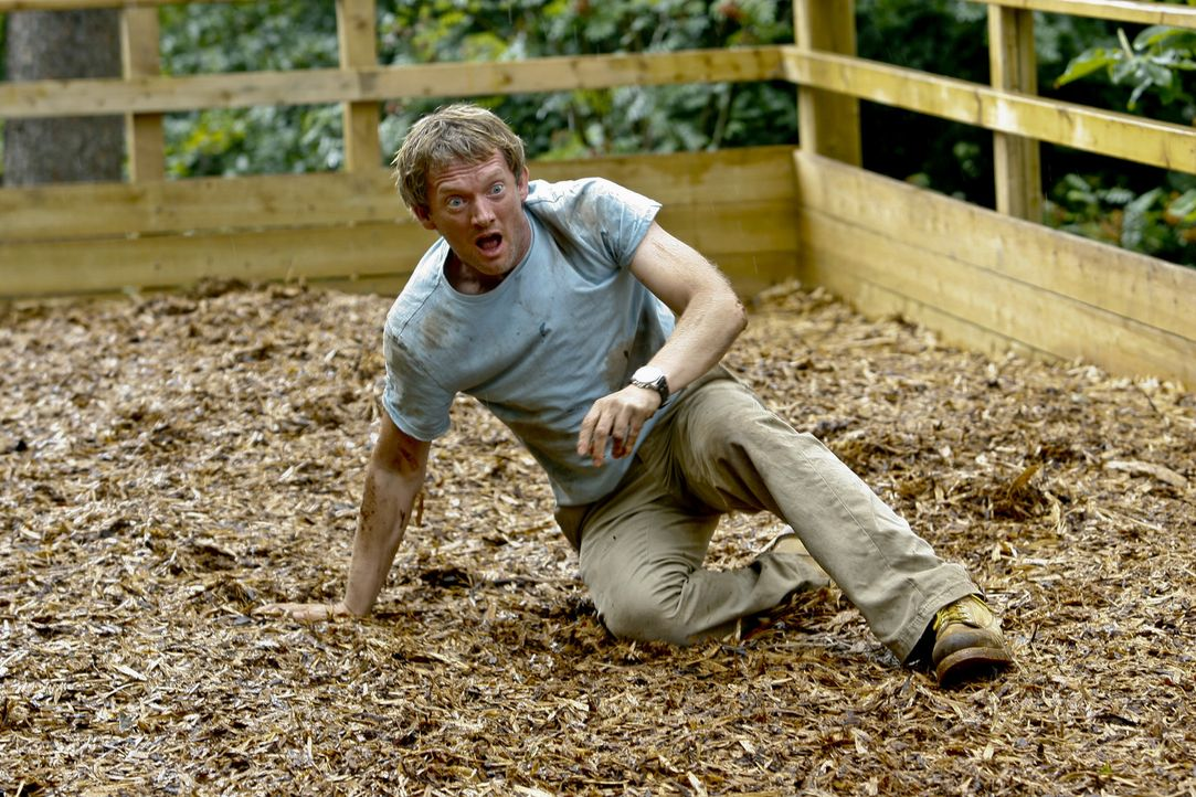 Im Visier eines Säbelzahntigers: Cutter (Douglas Henshall) ... - Bildquelle: ITV Plc