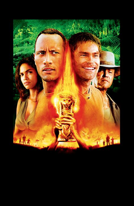 Welcome to the Jungle - Artwork: Mariana (Rosario Dawson, l.), Beck (Dwayne Johnson, 2.v.l.), Travis (Seann William Scott, 2.v.r.) und Hatcher (Chri... - Bildquelle: 2004 Sony Pictures Television International. All Rights Reserved.