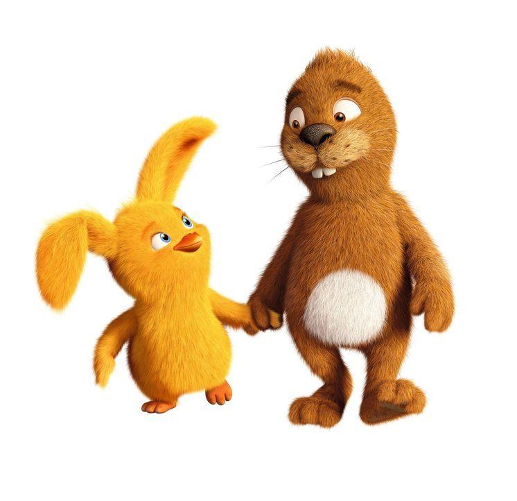 Ungleiche Freunde: Der Keinohrhase (r.) wünscht sich unbedingt einen Freund, der auch keine Ohren hat, damit er sich nicht mehr so alleine fühlt. Al... - Bildquelle: Warner Brothers