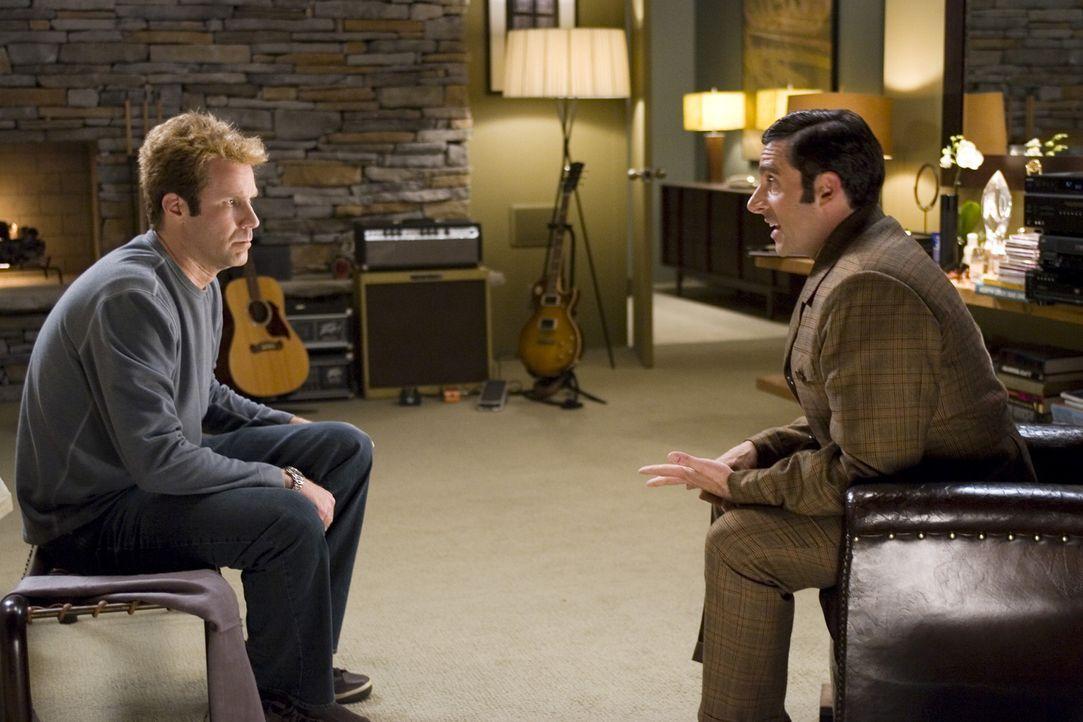 Jack Wyatts (Will Ferrell, l.) enthusiastischer Agent Richie (Jason Schwartzman, r.) hat ein neues Projekt zur Hand, um die Karriere von Jack irgend... - Bildquelle: 2005 Columbia Pictures Industries, Inc. All Rights Reserved.