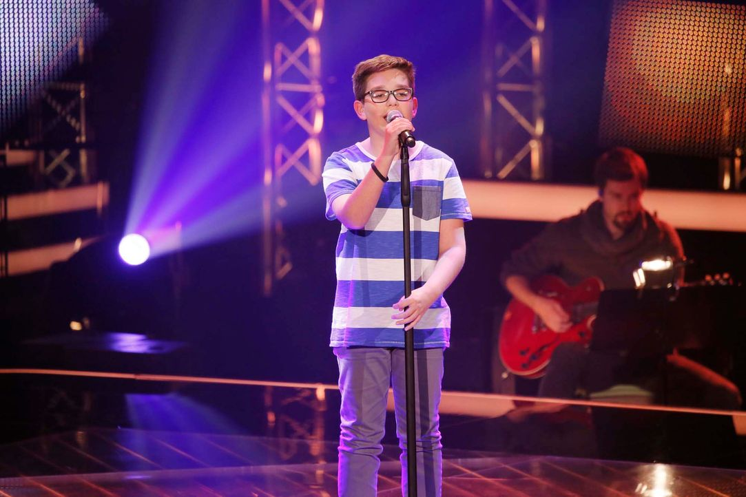 The-Voice-Kids-Stf04-Epi04-Maxime-SAT1-Richard-Huebner - Bildquelle: © SAT.1/ Richard Hübner