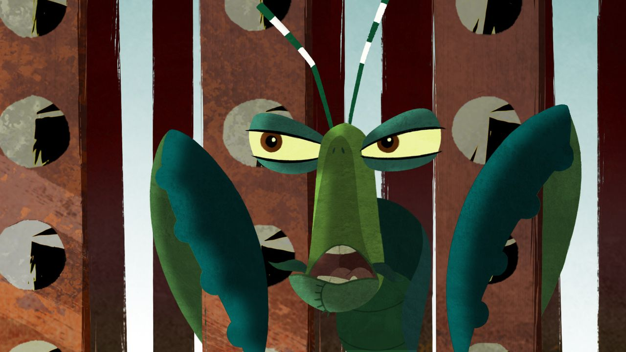 Mantis gerät in eine scheinbar ausweglose Situation ... - Bildquelle: 2008 DREAMWORKS ANIMATION LLC. ALL RIGHTS RESERVED.