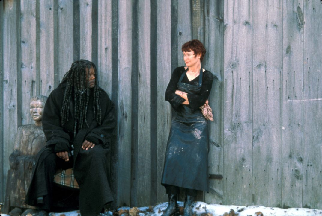 Bei seinen Ermittlungen freundet sich Romulus (Samuel L. Jackson, l.) mit Moira (Ann Magnuson, r.), der Schwester des berühmten Fotografen David Lep... - Bildquelle: Francise Productions