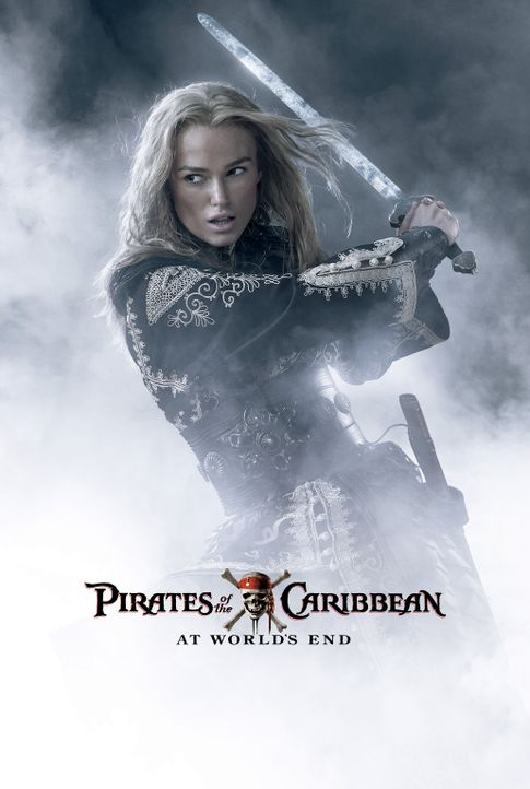Pirates of the Caribbean - Am Ende der Welt - Plakatmotiv: Elizabeth (Keira Knightley), Will und der tot geglaubte Kapitän Barbossa  begeben sich a... - Bildquelle: Disney Enterprises, Inc.  All rights reserved