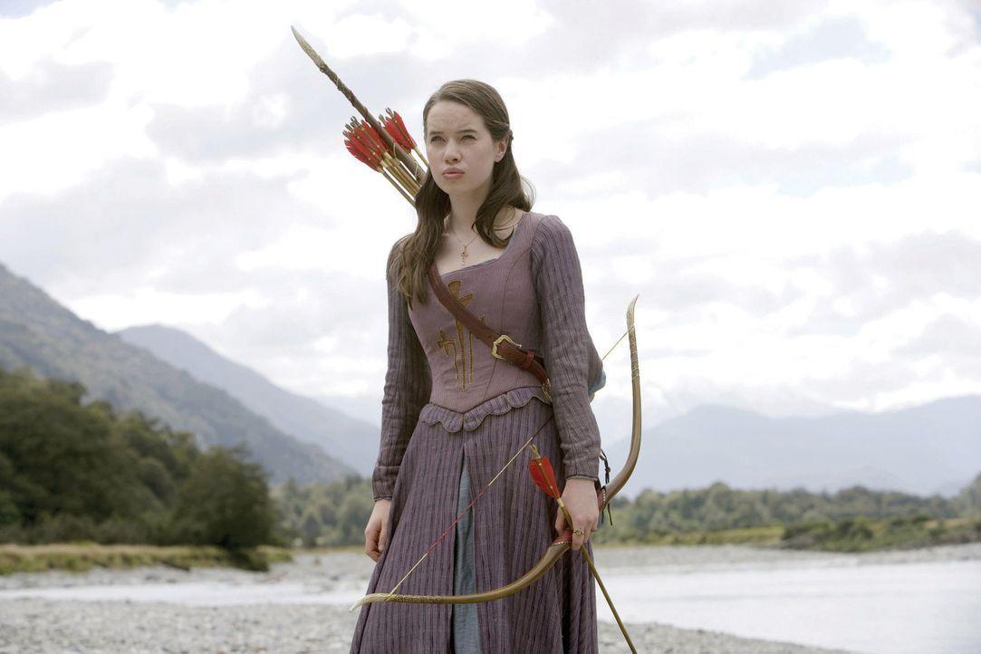 Mit Hilfe des magischen Horns ruft der verzweifelte Prinz Kaspian Susan (Anna Popplewell) und ihre Geschwister in das vom Untergang bedrohte Narnia... - Bildquelle: Disney - ABC - ESPN Television