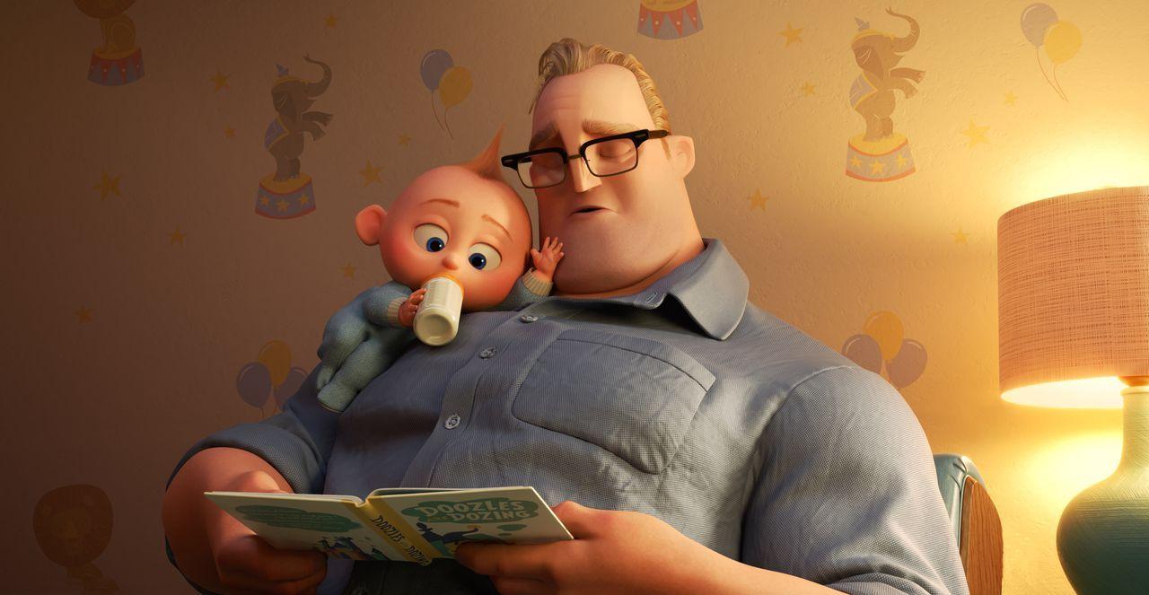 Jack-Jack Parr (l.); Bob Parr/Mr. Incredible (r.) - Bildquelle: 2018 Disney/Pixar. All Rights Reserved.