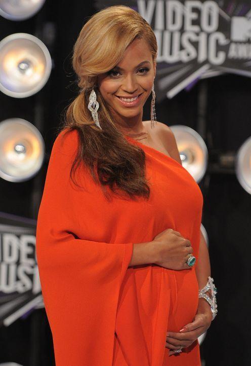 Die schwangere Beyoncé - Bildquelle: +++(c) dpa - Bildfunk+++Verwendung weltweit