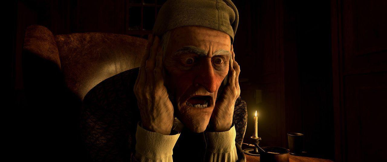 Am Heiligabend wird Scrooge (Jim Carrey) von seinem vor Jahren verstorbenen Kompagnons Marley ein düsteres Ende prophezeit, für den Fall, dass er... - Bildquelle: Walt Disney Pictures/Imagemovers Digital, LLC.