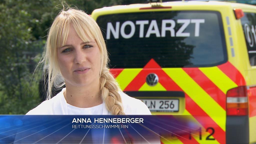 Wasser - Rettungsschwimmerin Anna Henneberger - Bildquelle: SAT.1