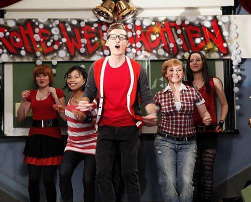 Begeistern das Publikum beim Weihnachtsfest: Hotte, Emma, Luzi, Sophie und Timo. - Bildquelle: David Saretzki - Sat1