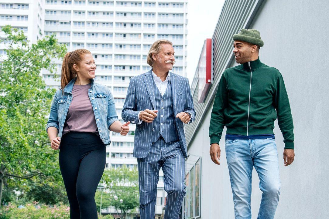 Ingo Lenßen, Sarah Grüner und John Davis - Bildquelle: SAT.1/Claudius Pflug