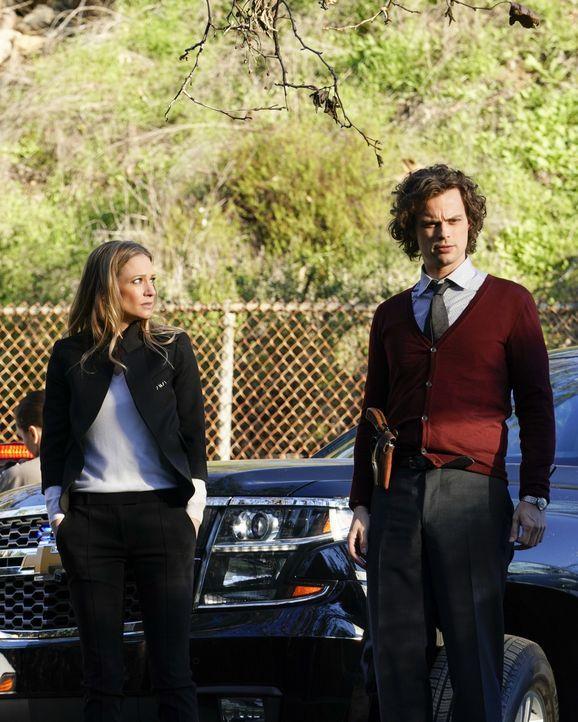 Jennifer Jareau (A.J. Cook, l.); Dr. Spencer Reid (Matthew Gray Gubler, r.) - Bildquelle: Cliff Lipson ABC Studios / Cliff Lipson