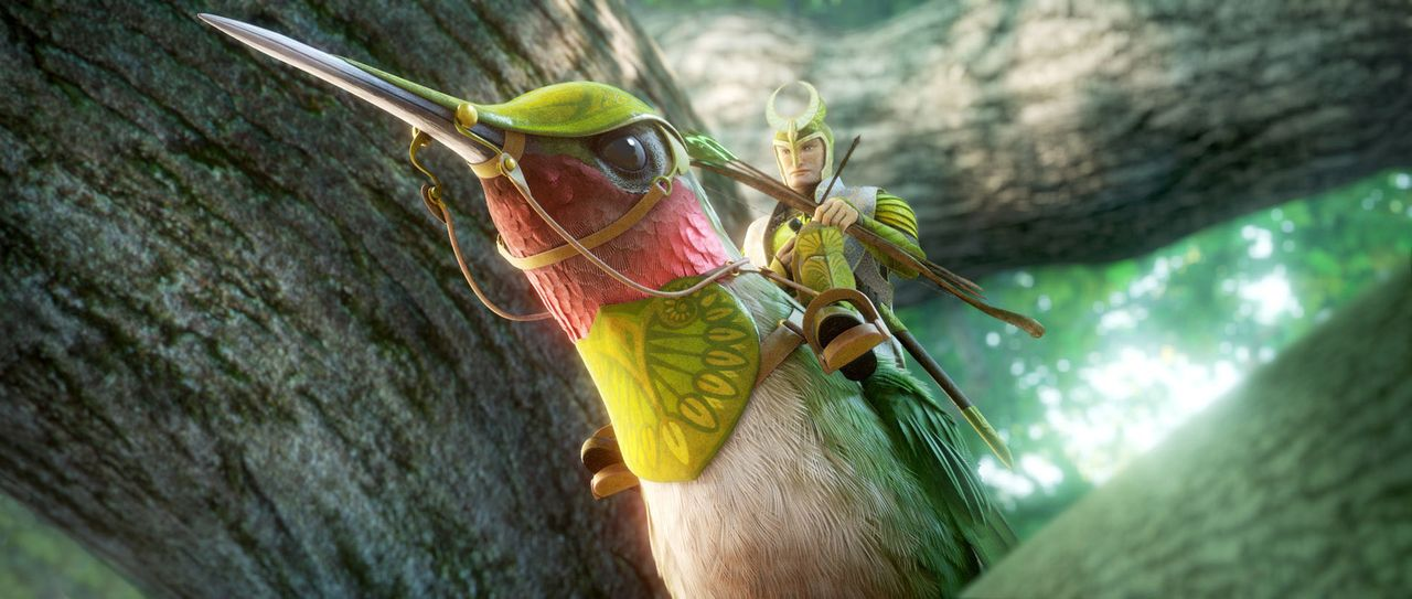 Ronin ist der weise und erfahrene Anführer der Leafmen, einer Einheit von Kämpfern, die sich dem Schutz aller Lebewesen des Waldes verschrieben habe... - Bildquelle: 2013 Twentieth Century Fox Film Corporation. All rights reserved.