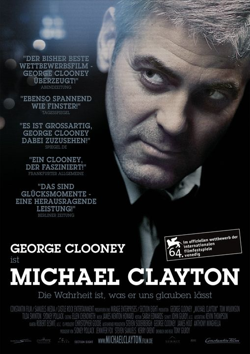 Michael Clayton - Plakatmotiv - Bildquelle: Constantin Film Verleih GmbH