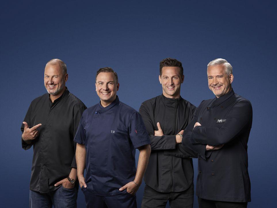 (v.l.n.r.) Tim Raue; Alexander Herrmann; Alexander Kumptner; Frank Rosin - Bildquelle: Jens Hartmann SAT.1 / Jens Hartmann