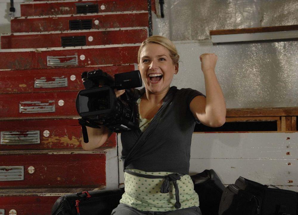 Ist überglücklich: Anna (Jeanette Biedermann) ... - Bildquelle: Sat.1
