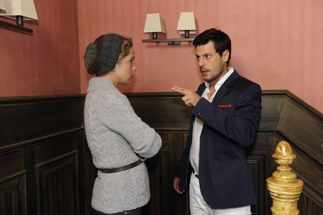 Wie wird es mit Luca (Manuel Cortez, r.) und Nina (Maria Wedig, l.) weitergehen? - Bildquelle: SAT.1