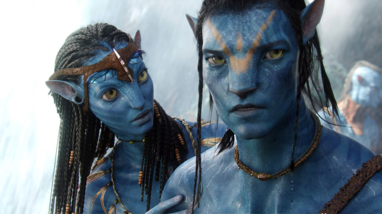 Neytiri (Zoe Saldana, l.); Jake Sully (Sam Worthington, r.) - Bildquelle: TM & © 2007 Twentieth Century Fox - All Rights Reserved - Not for sale or duplication./ Courtesy of WETA